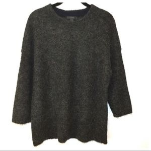 J. Crew Textured Slouchy Charcoal Sweater S